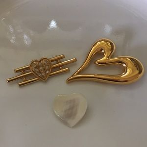 Bundle of Heart Brooches